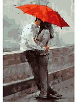 Первый поцелуй, Серия Люди, рисование по номерам, 35 × 50 см, Идейка