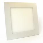 Врезной LED светильник точечный квадратный, алюминиевый, белый, 12Вт