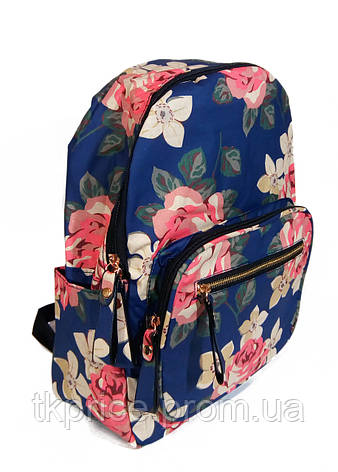 52fc4113380d Купить Рюкзак для школы и прогулок с цветочным принтом голубой ...