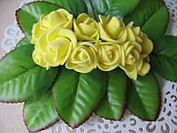 Розы из латекса желтые