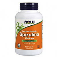 Спирулина / NOW Spirulina 1000mg 120 tabs
