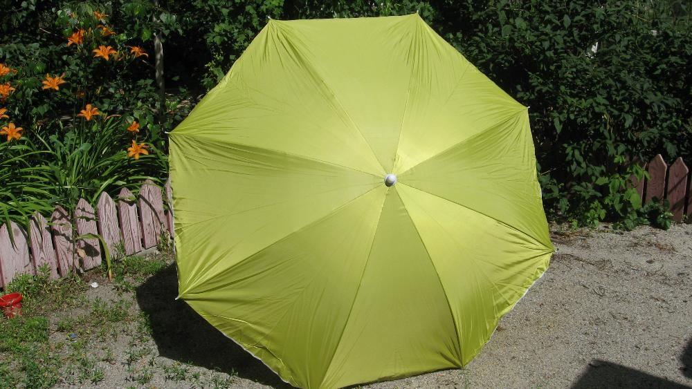 Зонт пляжный, торговый (желтый)