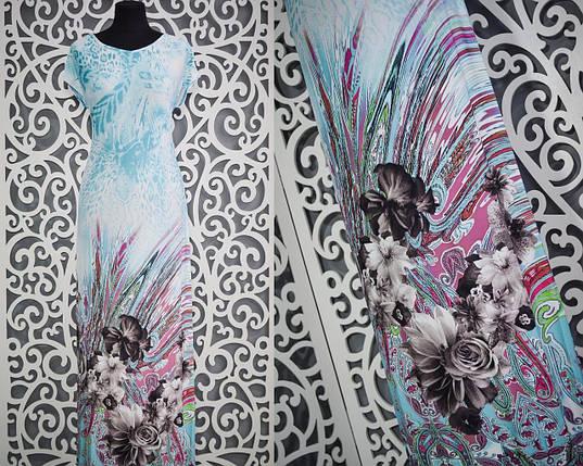 """Красивое летнее женское платье в пол """"масло"""" 54 размер батал, фото 2"""