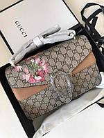 Женская сумочка Гуччи DIONYSUS BAG LUX цветы