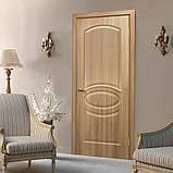 Двери межкомнатные Омис  Лика ПВХ глухая, цвет  дуб золотой, фото 2