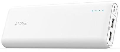 Портативное зарядное устройство Anker PowerCore 20100mAh V3 White (внешняя зарядка для телефона)