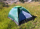 Двомісна Палатка туристична зелена, фото 6