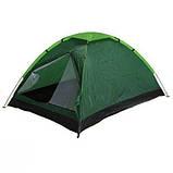 Двомісна Палатка туристична зелена, фото 2