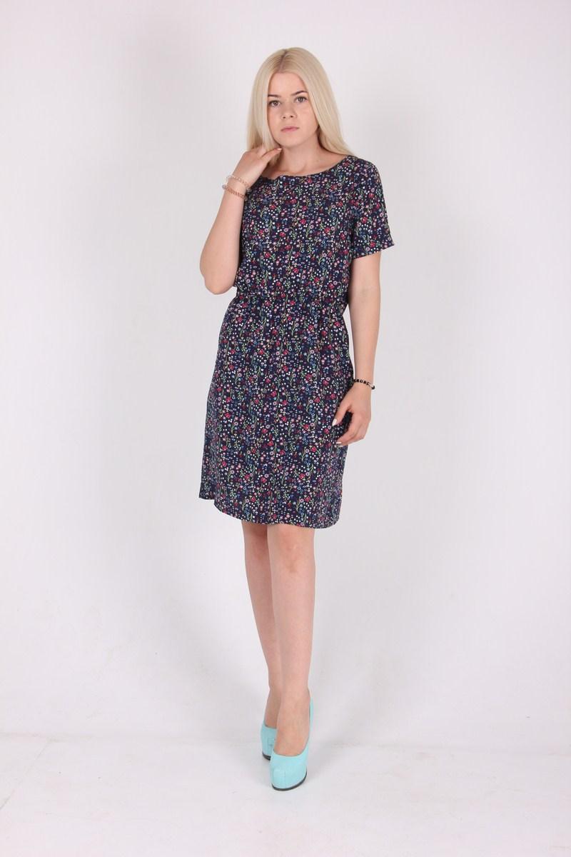 Модное   летнее платье из принтованого штапеля