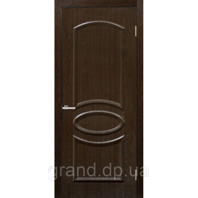 """Дверь межкомнатная """"Лика ПВХ"""" глухая, цвет каштан"""