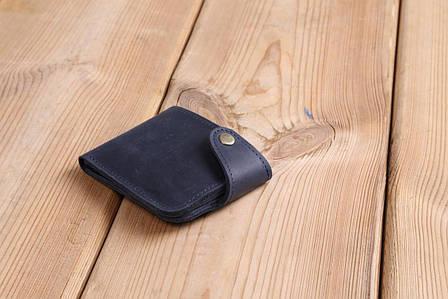 Шкіряний гаманець ручної роботи кольору неба