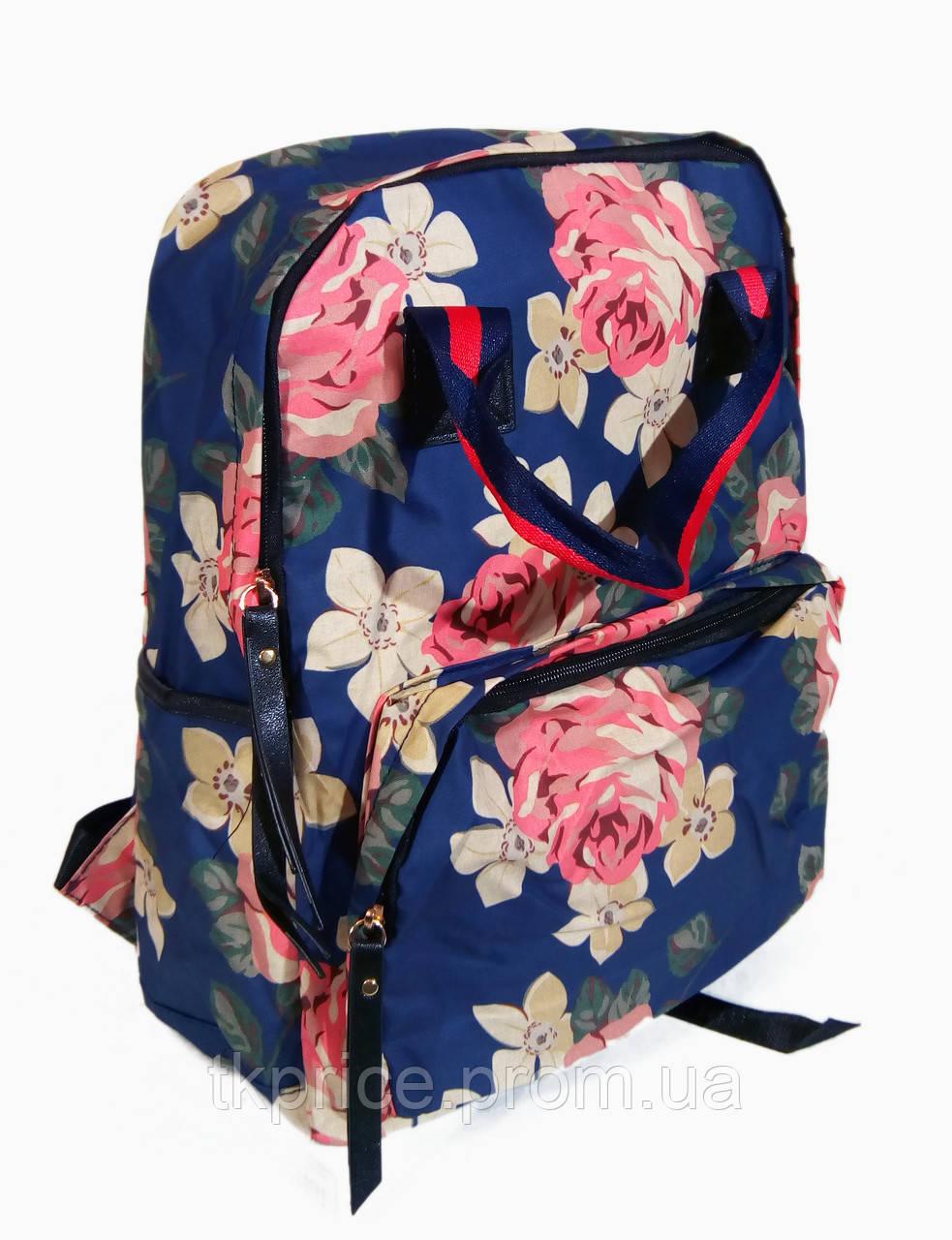 50f06ccf3ce4 Сумка - рюкзак для школы и прогулок с цветочным принтом - Интернет-магазин