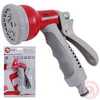 Пистолет-распылитель для полива 8-ми функциональный (центральный, туман, душ.) ABS, PP,TPR INTERTOOL GE-0001
