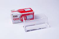 Подставка для визиток пластиковая, органайзер настольный