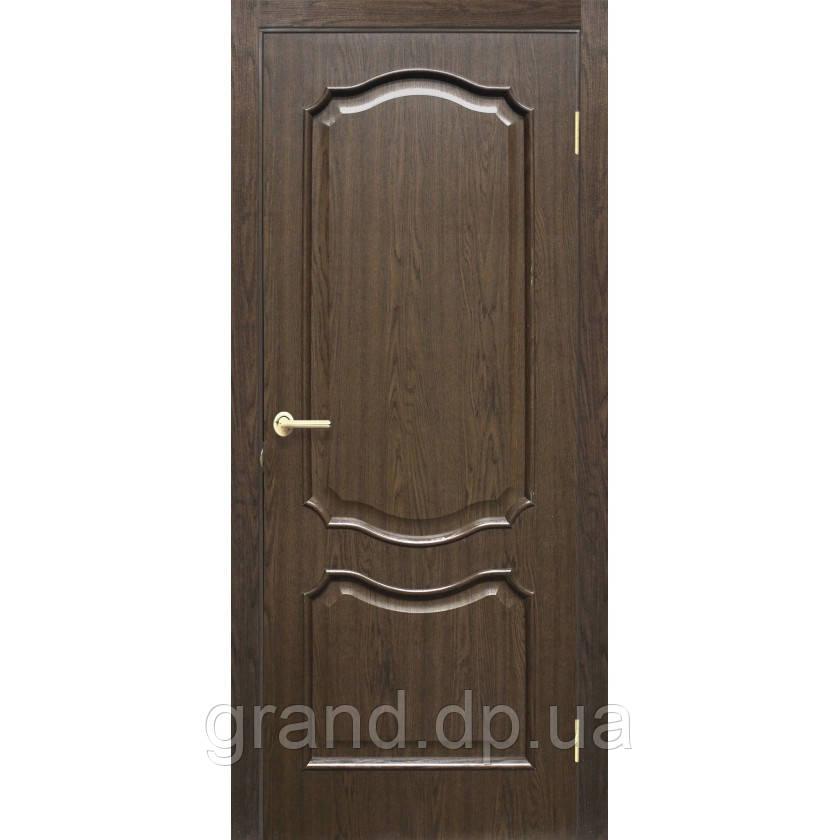 """Дверь межкомнатная """"Прованс ПВХ"""" глухая, цвет каштан"""