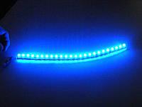 Светодиодная лента DIP 24, с влагозащитой. Синий
