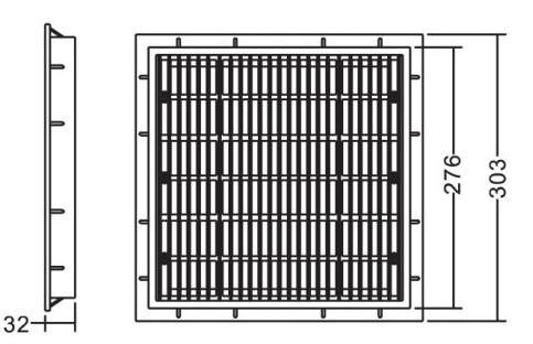 Сливная решетка Emaux EM2812 размеры