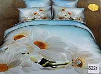 Сатиновое постельное белье евро 3D ELWAY S221