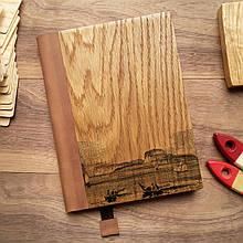 """Деревянный блокнот в твердом переплёте """"Лодки и суда"""" формат А5"""