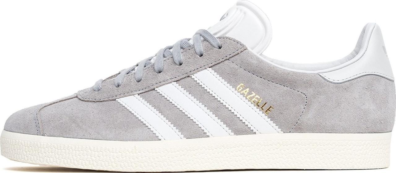 Женские Кроссовки Adidas Gazelle Light Grey (Адидас Газели, Серые ... 374c0305d2b