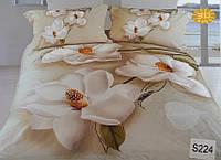 Сатиновое постельное белье евро 3D ELWAY S224