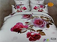 Сатиновое постельное белье евро 3D ELWAY S228