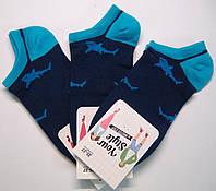 Носки в акулы мужские низкие темно-синего цвета