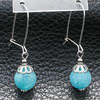 Аквамарин, срібло, сережки, 203СРА, фото 1