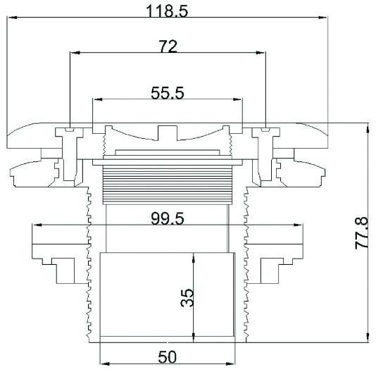 форсунка стеновая Aquant 21204 под лайнер размеры