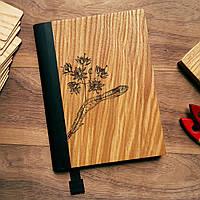 """Деревянный блокнот в твердом переплёте """"Цветение липы"""" формат А5, фото 1"""