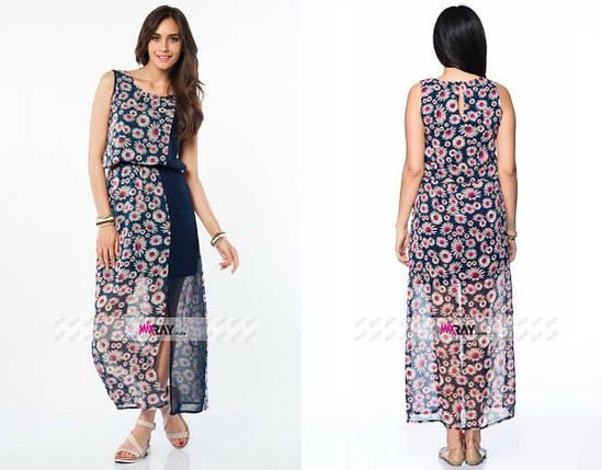 """Тренд сезона, женское платье """"шифон на подкладке"""" 44, 46 размер норма, фото 2"""