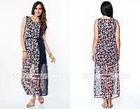 """Тренд сезона, женское платье """"шифон на подкладке"""" 44, 46 размер норма"""