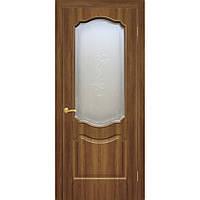Двери межкомнатные Омис  Прима ПВХ с рисунком на стекле, цвет ольха европейская