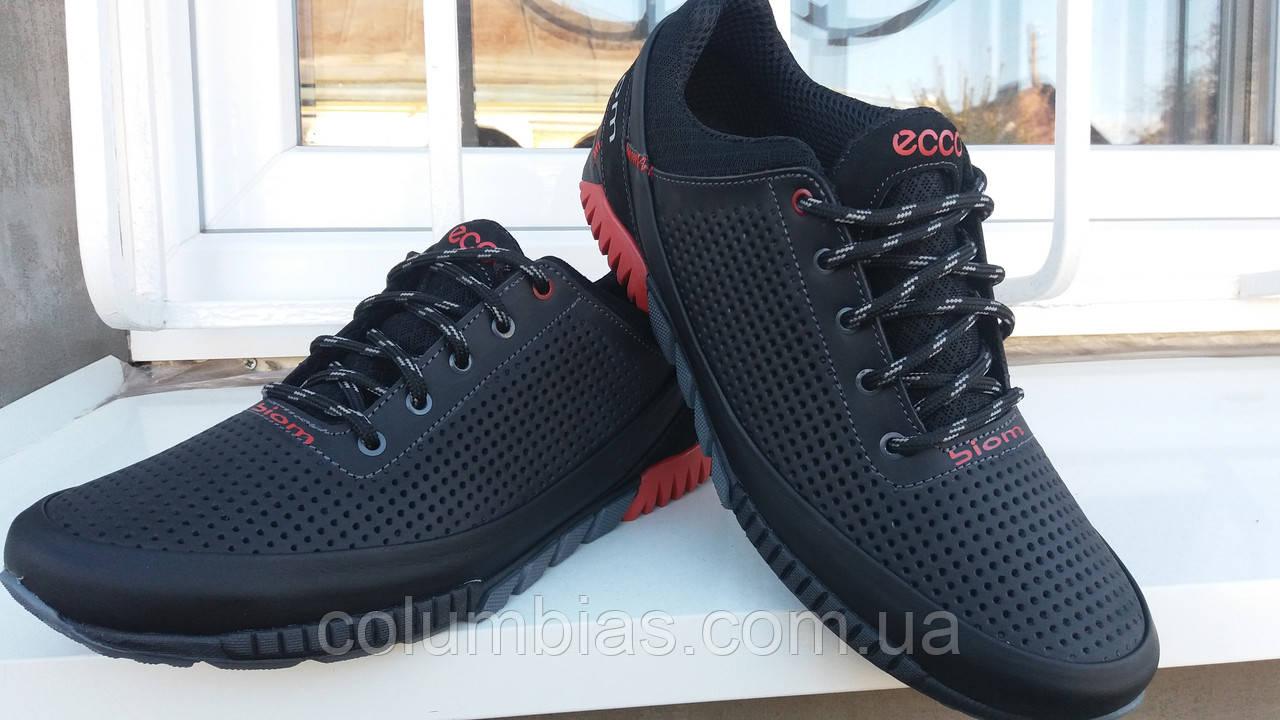 Дышащие летние кожаные кроссовки Ecco e8f2b6bb0ffaa