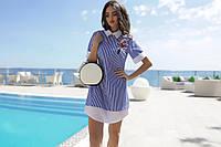 Удлиненная рубашка - платье для девушек SM