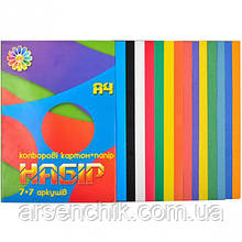 "Цветной картон и бумага 7+7 ""Тетрада"" А4"