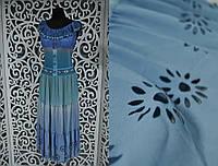 Стильный женский сарафан в пол с перфорацией 50, 56, 58 размер батал