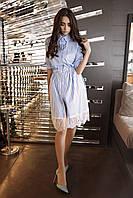 Рубашечное платье с гипюром SM