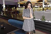 Короткое рубашечное платье с гипюром SM