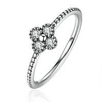 """Серебряное кольцо Пандора (Pandora) """"Кружевные цветы"""""""