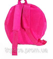 Детский рюкзак для девочек с куклой розовый, фото 2