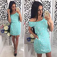 Женское модное летнее платье (2 цвета)