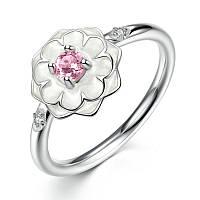 """Серебряное кольцо Пандора (Pandora) """"Цветущий георгин"""""""