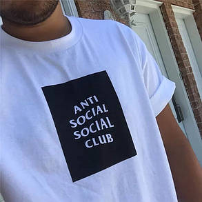 Футболка A.S.S.C. Белая Anti Social social club | Бирки , фото 2