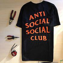 Футболка ASSC Undefeated Paranoid. Бирка Anti Social Social Club, фото 2