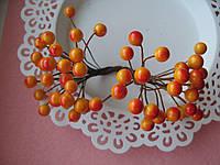 Ягоды гладкие желтые с красным d 8 мм
