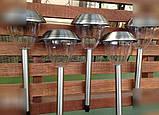 5 шт. Садові світильники на сонячній батареї 43 див. (нерж. сталь), фото 4