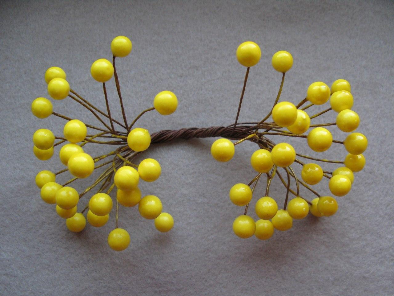 Ягоды гладкие желтые d 8 мм