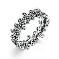 """Серебряное кольцо Пандора (Pandora) """"Сверкающие маргаритки"""""""