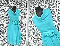"""Красивое летнее женское платье """"легкий шифон на подкладке"""" поясок в комплекте 48 размер норма"""